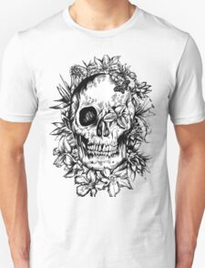 floral skull 2 Unisex T-Shirt