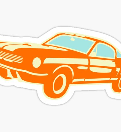 Ford Mustang, vintage car Sticker