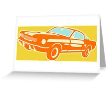 Ford Mustang, vintage car Greeting Card