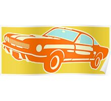 Ford Mustang, vintage car Poster