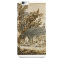 Francesco Casanova A WOODY LANDSCAPE WITH A MILITARY CAMP iPhone Case/Skin