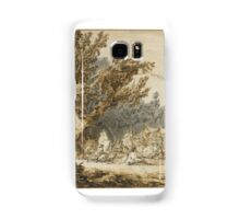 Francesco Casanova A WOODY LANDSCAPE WITH A MILITARY CAMP Samsung Galaxy Case/Skin