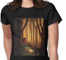 Forest Encounter Womens Fitted T-Shirt
