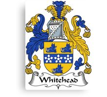 Whitehead Coat of Arms / Whitehead Family Crest Canvas Print