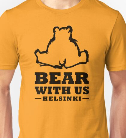 Bear With Us Helsinki Sitting bear Unisex T-Shirt