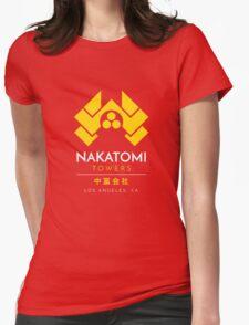 Nakatomi Towers T-Shirt Womens Fitted T-Shirt