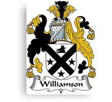 Williamson Coat of Arms / Williamson Family Crest Canvas Print