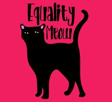 Equality MEOW kitty cat feminism Womens Fitted T-Shirt