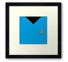 """Star Trek Color and Badge """"Science"""" Framed Print"""