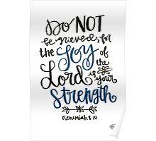 Nehemiah 8:10 Poster