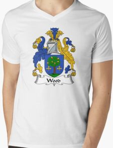 Wood Coat of Arms / Wood Family Crest Mens V-Neck T-Shirt