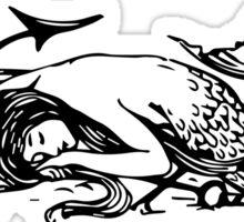 Sleeping Mermaid, Dreaming of Land Sticker