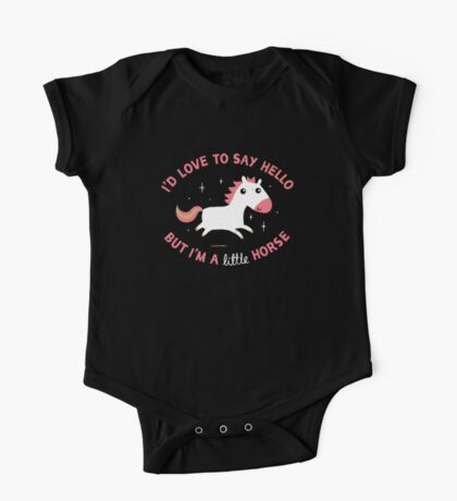 I'm A Little Horse One Piece - Short Sleeve
