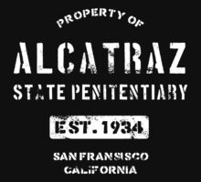Property of Alcatraz Penitentiary Prison T-Shirt One Piece - Short Sleeve