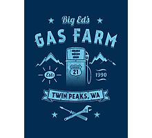 Big Ed's Gas Farm Photographic Print