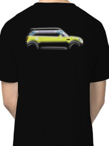 MINI, BMW, Mini Car, Liquid Yellow, British, Icon, Yellow Mini, Motor car Classic T-Shirt
