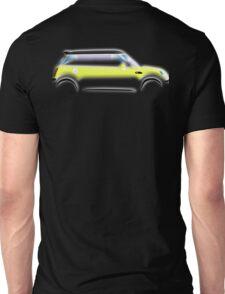 MINI, BMW, Mini Car, Liquid Yellow, British, Icon, Yellow Mini, Motor car Unisex T-Shirt
