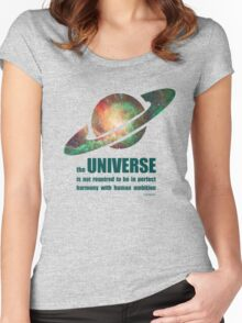 Carl Sagan - the Universe Women's Fitted Scoop T-Shirt