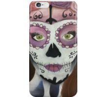 Sugar Skull Chalk Art iPhone Case/Skin