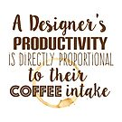 Design and coffee are directly proportional by Gudrun Eckleben