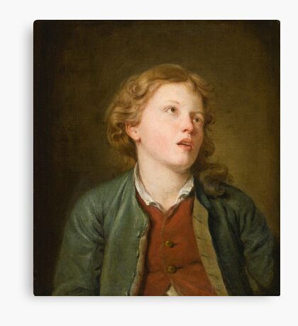 Jean-Baptiste Greuze A YOUNG BOY LOOKING UP Canvas Print