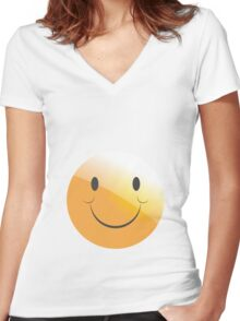 emotion smile  Women's Fitted V-Neck T-Shirt