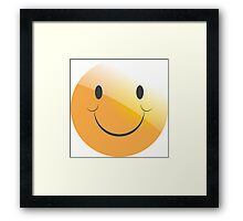 emotion smile  Framed Print