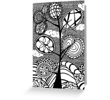Quirky Tree Sketch Greeting Card