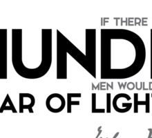 thunder, fear of lightning - jules verne Sticker