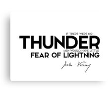thunder, fear of lightning - jules verne Canvas Print