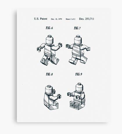 Lego Man Patent 1979 Page 2 Canvas Print