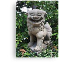JAPANESE GARDEN LION STATUE Canvas Print