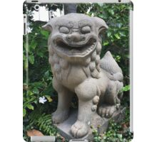 JAPANESE GARDEN LION STATUE iPad Case/Skin