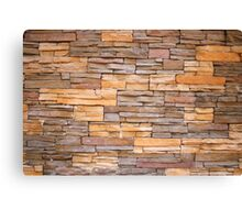Horizontal Narrow Brick Facade Canvas Print