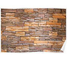 Horizontal Narrow Brick Facade Poster