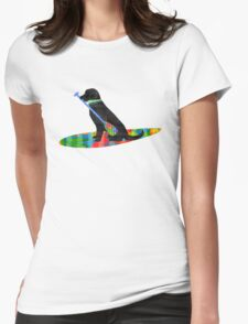 Colorful Stand Up Paddle Board Preppy Black Lab Womens Fitted T-Shirt