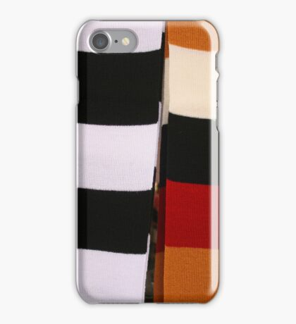 Checkerboard of Knit Scarves iPhone Case/Skin