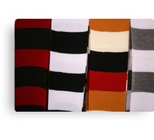 Checkerboard of Knit Scarves Canvas Print