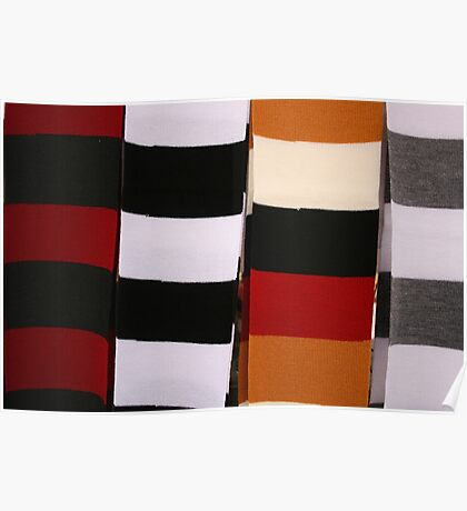 Checkerboard of Knit Scarves Poster