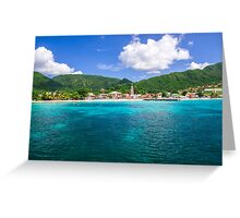Tropical Coast Greeting Card