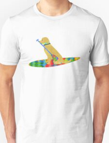 Stand Up Paddle Board Preppy Golden Retriever Unisex T-Shirt
