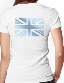 COOL, BRITANNIA, UNION JACK, ICE, BRITISH FLAG, GB, UK, BLIGHTY,  ENGLAND, Blighty, COOL, BLUE, ICE Womens Fitted T-Shirt