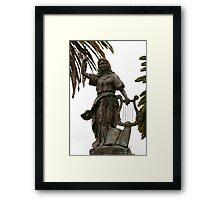 Statue in San Francisco Park Framed Print