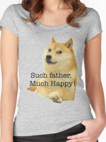 Happy Father's Day - Doge Women's Fitted Scoop T-Shirt