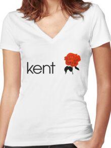 Kent - Egoist Women's Fitted V-Neck T-Shirt