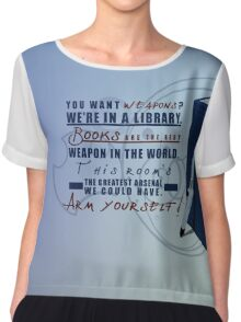 Books are the best weapon in the world Chiffon Top