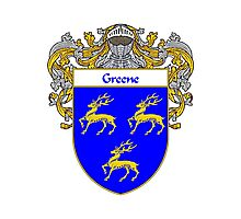 Greene Coat of Arms / Greene Family Crest Photographic Print
