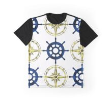 Wheel and Compass Graphic T-Shirt