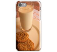 Chocolate Chip Cookies and Santa's Letter iPhone Case/Skin