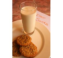 Chocolate Chip Cookies and Santa's Letter Photographic Print